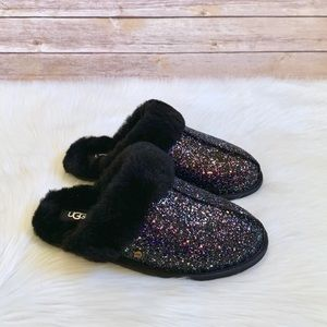 UGG Black Scuffette II Cosmos Glitter Slippers